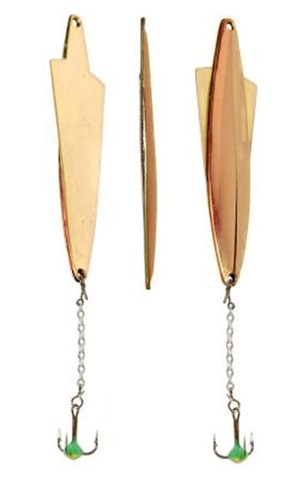 Блесна LUCKY JOHN Wing, цепочка, тройник с каплей, 5.5 г, цвет GC