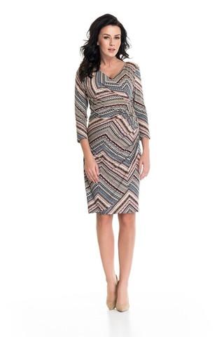 Платье для беременных и кормящих 05405 узорный