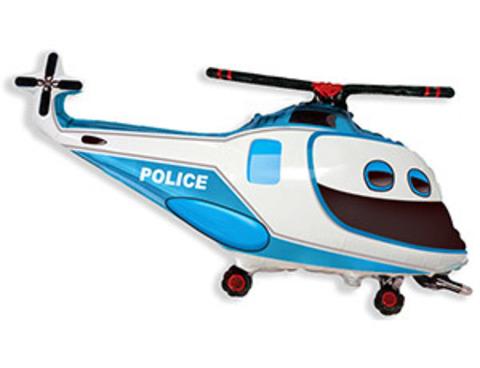 Фольгированный шар Вертолет полиция