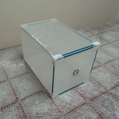 28*18*17 см пластиковая прозрачная коробка для высокой  обуви с выдвижным ящиком