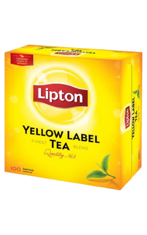 Lipton Yellow label в пакетиках, 100 шт