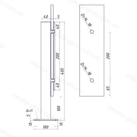 Стойка для стекла ST-40-02