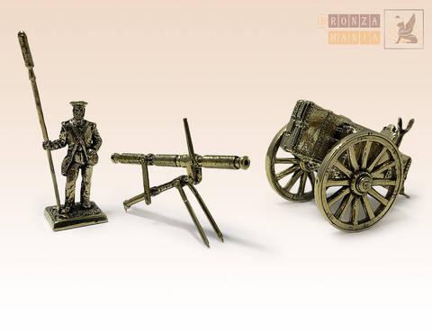 фигурка Артиллерист Британской армии с ракетной установкой и станком-фурой