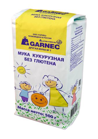 Garnec Мука кукурузная без глютена 500 гр