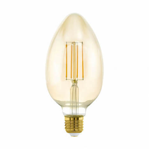 Лампа LED филаментная диммир. янтарного цвета Eglo MID SIZE LM-LED-E27 1X4W 380Lm 2200K B80 11836
