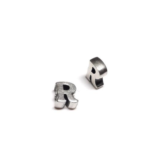 Alphabet letter R, sterling silver