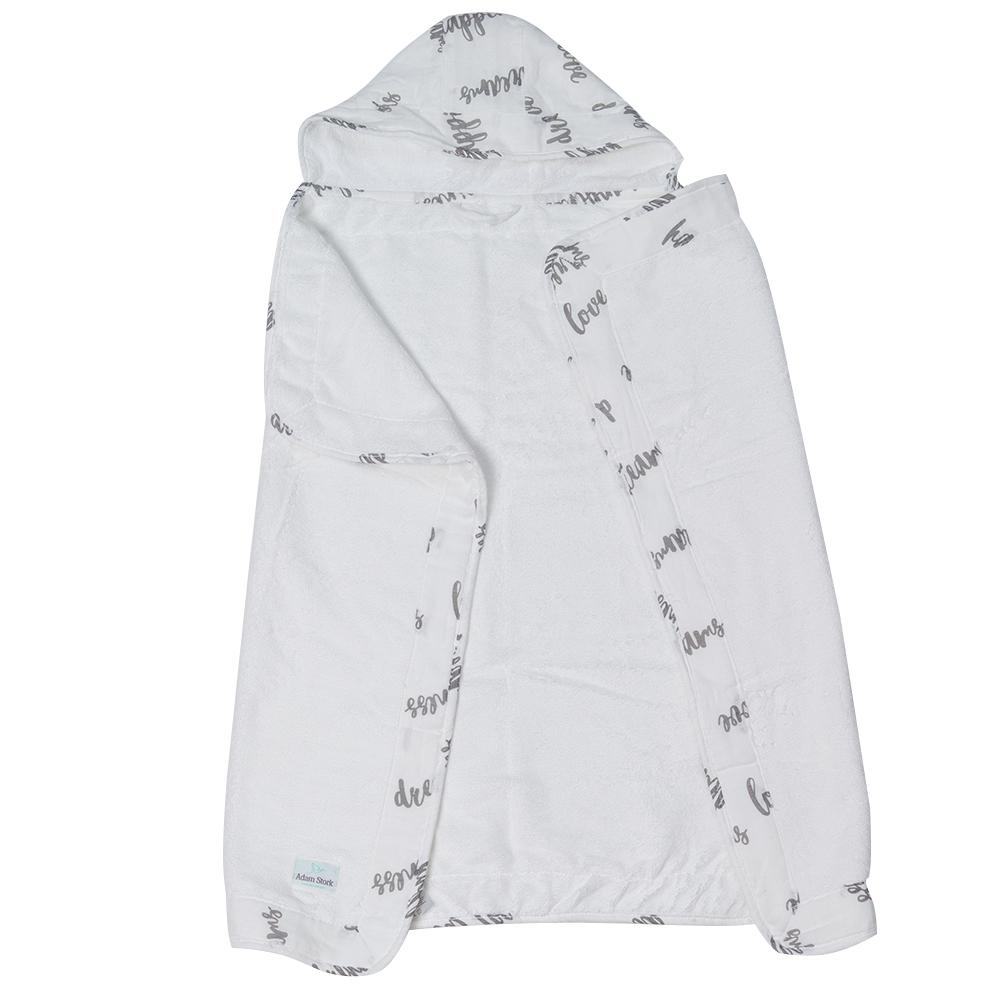 Полотенце с капюшоном 2+ Adam Stork Happiness Toddler 70 х 127 см.