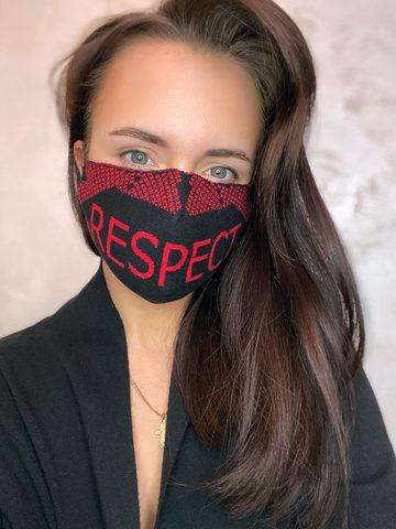Женская гигиеническая трикотажная маска с принтом - фото 2