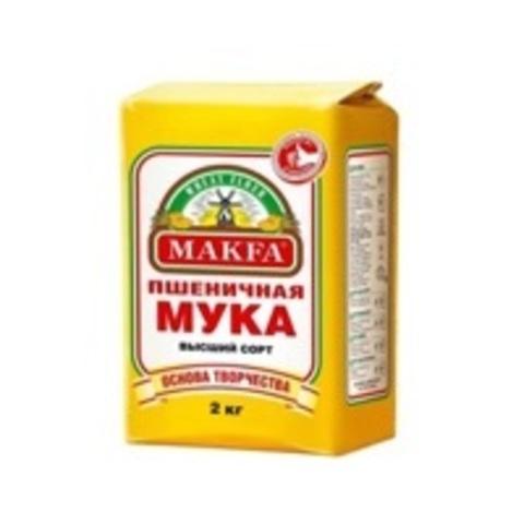Мука Макфа Пшеничная высший сорт, бумажный пакет 2 кг