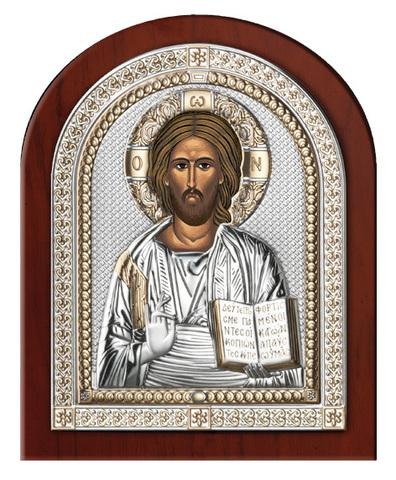 Серебряная икона Иисуса Христа Спасителя (эксклюзивная рамка)