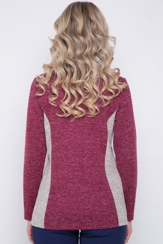 <p>Оригинальный блузон на каждый день. Длинный рукав, V-образный вырез горловины.</p> <p>Длины: 46-64см; 48-65см; 50-66см; 52-67см</p>