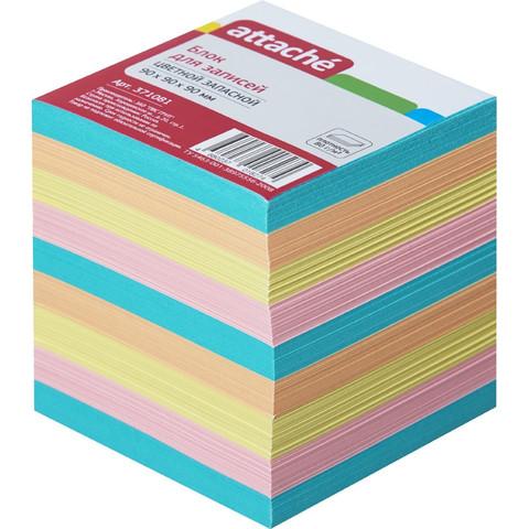 Блок для записей Attache 90x90x90 мм разноцветный (плотность 80 г/кв.м)