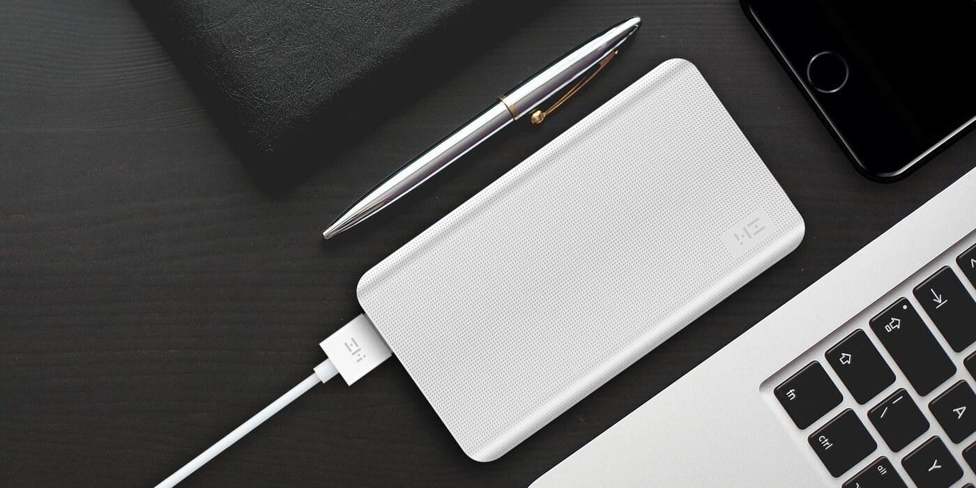 Внешний аккумулятор XIAOMI ZMI Power Bank 10000 mAh (белый) пример использования