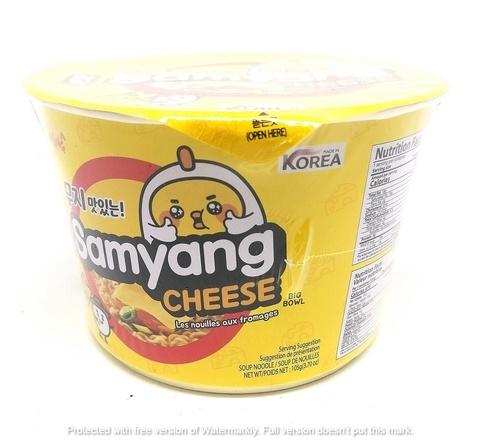 Корейская пшеничная лапша со вкусом сыра Samyang Cheese big bowl, 105 гр.