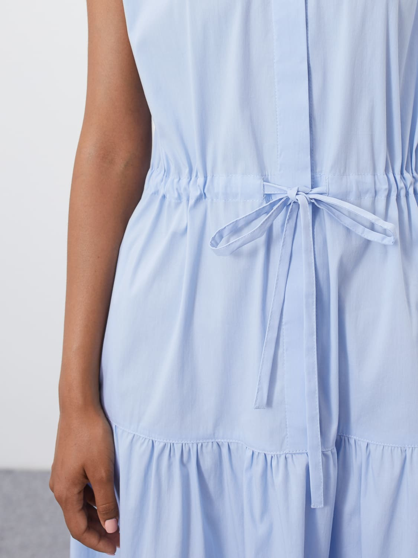 Платье Alison с кулисой и сборкой, Голубой