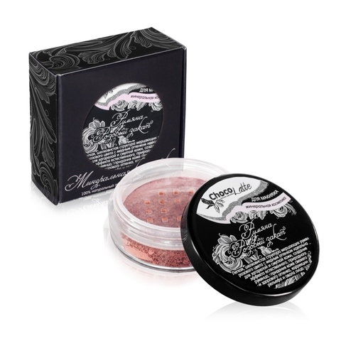 Для макияжа Румяна Розовый Закат розового цвета с медным оттенком, 10 мл/3гр TM ChocoLatte