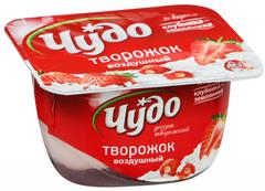 """Творожок """"Чудо"""" воздушный  клубника 100г"""