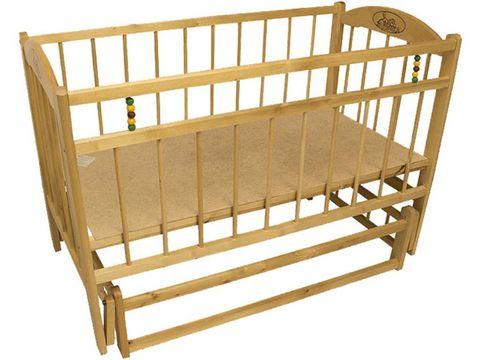 Детская кроватка Заюшка 3-6 колесо/маятник