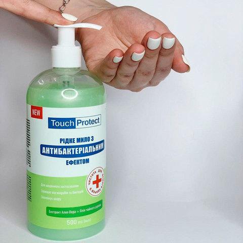 Жидкое мыло с антибактериальным эффектом Алое вера-Чайное дерево Touch Protect 500 мл (2)