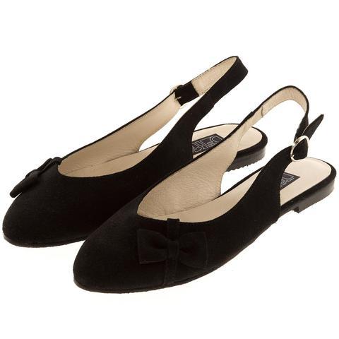 570199 Туфли летние женские черные замша. КупиРазмер — обувь больших размеров марки Делфино