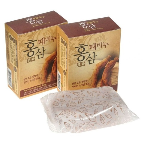 MUKUNGHWA Soap Мыло-скраб красный женьшень, 100 гр Miso Red Ginseng Scrub Soap(for pharmacy) 100g