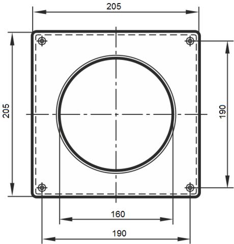 Накладка торцевая 160 мм