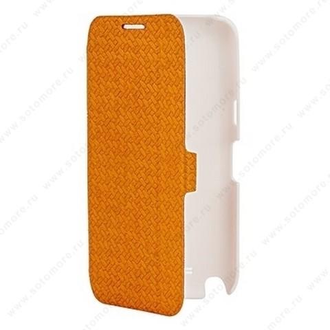 Чехол-книжка Yoobao для Samsung Galaxy Note 2 N7100 - Yoobao Fashion Leather Case (British style pattern) Orange