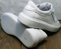 Белые женские кеды кроссовки городские Maria Sonet 274k All White.