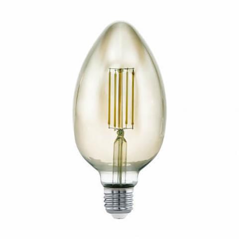 Лампа LED филаментная диммир. дымчатого цвета Eglo MID SIZE LM-LED-E27 4W 360Lm 3000K B80 11839