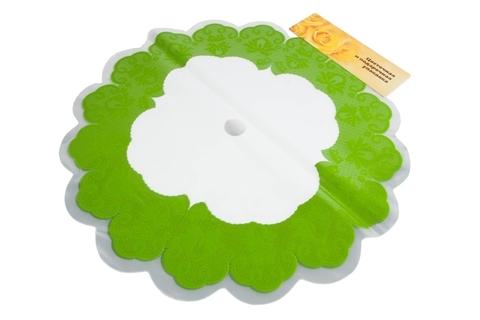 Салфетка ажурная круг d60 см цвет: салатовая