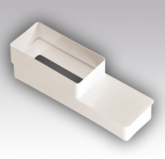 Соединитель эксцентриковый 120х60/204х60 мм пластиковый