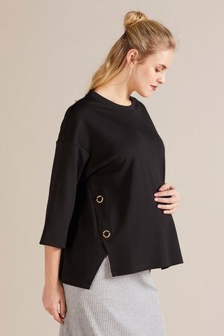 Джемпер для беременных 09793 черный