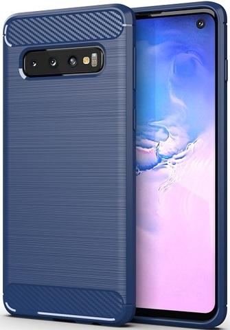Чехол Samsung Galaxy S 10 цвет Blue (синий), серия Carbon, Caseport