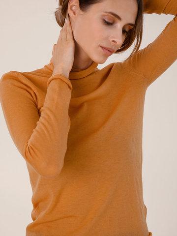 Женский свитер песочного цвета из 100% шерсти - фото 3