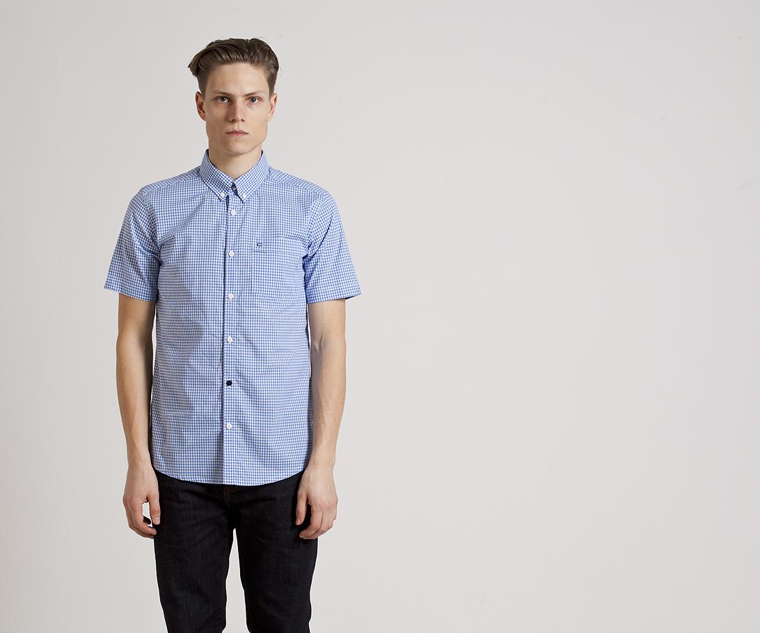 Мужская рубашка с коротким рукавом Weekend Offender Jay Sky White. Коллекция весна-лето 2016.