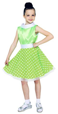 Костюм Платье стиляги зелёное