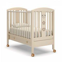 Кровать детская Дени люкс с ящиком слоновая кость