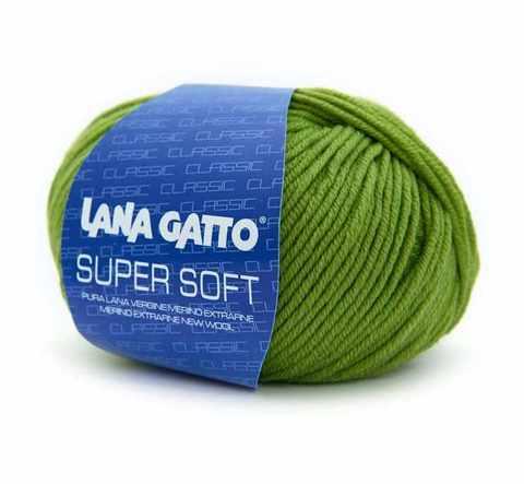 Пряжа Lana Gatto Supersoft 13277 салатовый