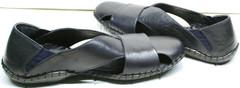 Модные сандалии босоножки синего цвета мужские Luciano Bellini 76389 Blue.