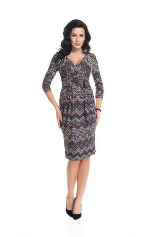 Платье для беременных и кормящих 05407 узорный