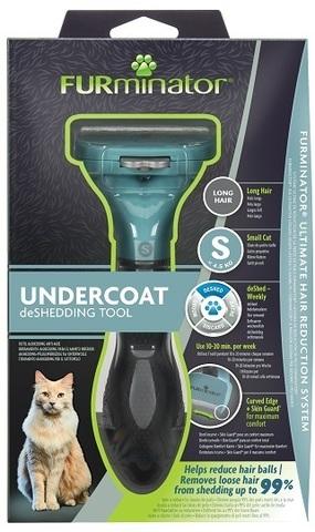 FURminator S фурминатор для маленьких кошек c длинной шерстью