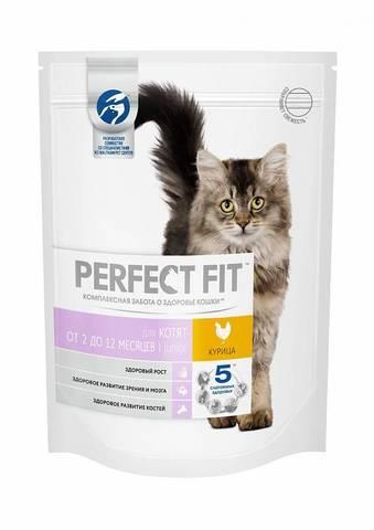 Perfect Fit сухой корм для котят (с курицей) 650 г