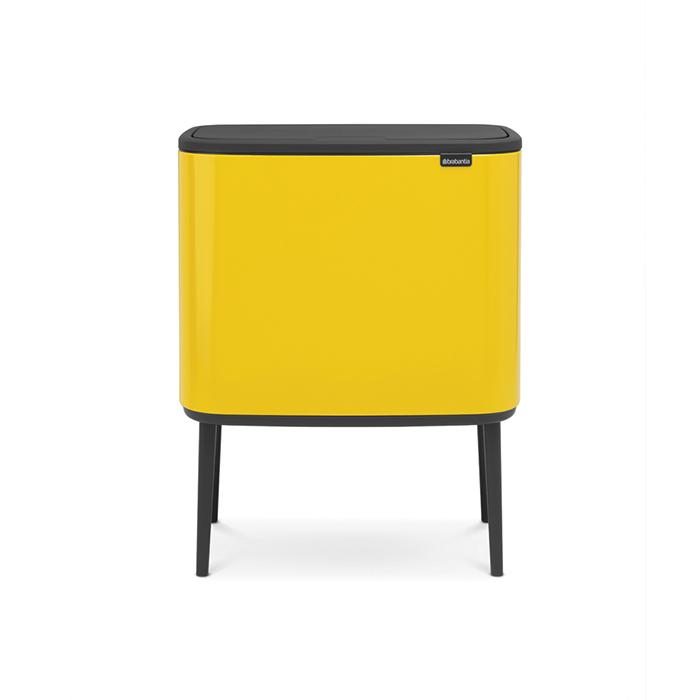 Мусорный бак Touch Bin Bo (3 х 11 л),  Желтая маргаритка, арт. 316029 - фото 1