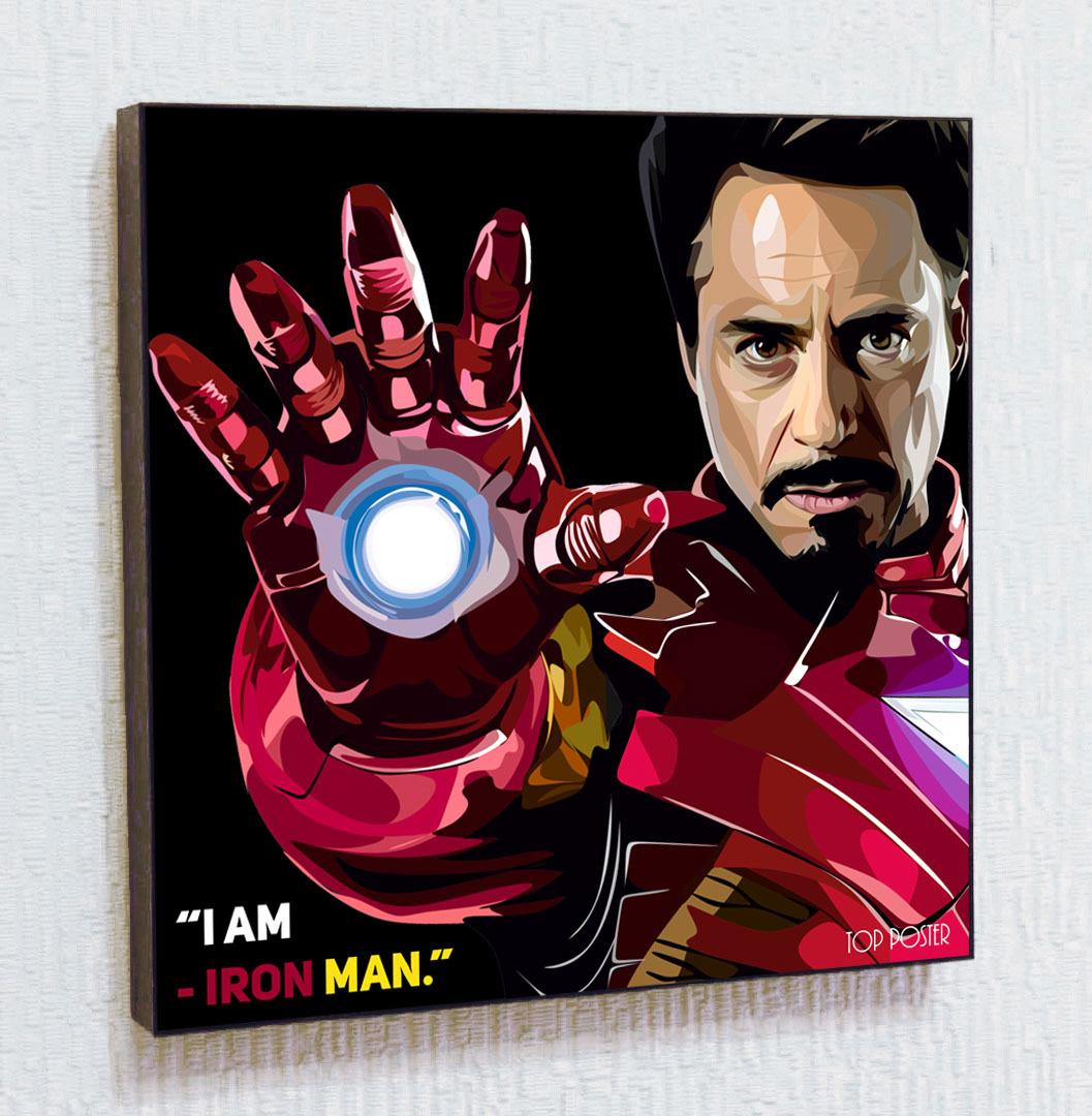 Картина постер ПОП-АРТ Тони Старк (Железный человек)