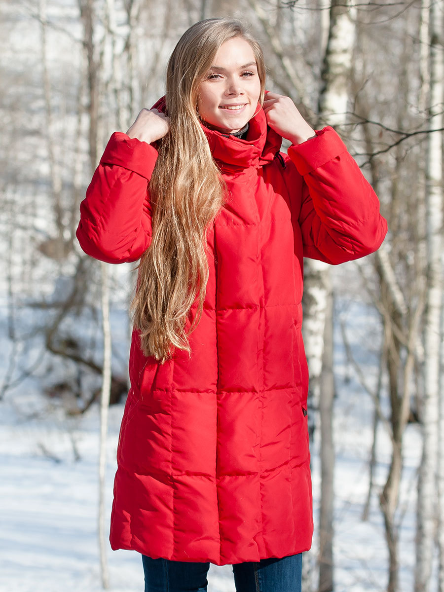 Joutsen пуховик Alison красный - Фото 1