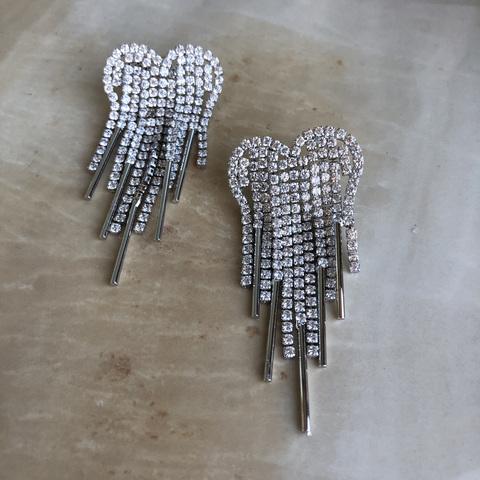 Серьги Роберта, серебряный цвет