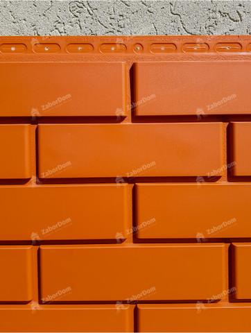 Фасадная панель Гранд Лайн Клинкерный кирпич Терракотовый 1105х417 мм