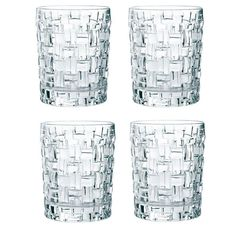 Набор из 4 хрустальных стаканов для виски BOSSA NOVA, 290 мл
