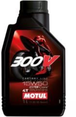 Моторное масло синтетическое Motul 300V Off Road Factory Line 4T 15W-50 1л для мотоцикла, квадроцикла