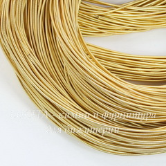 Канитель для вышивания жесткая 1,2 мм (цвет - светлое золото)